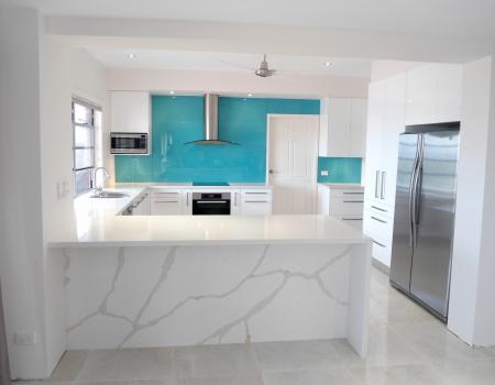 Aqua Kitchen Splashback 3