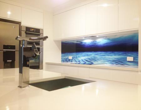 Ocean Printed Glass Splashback 3