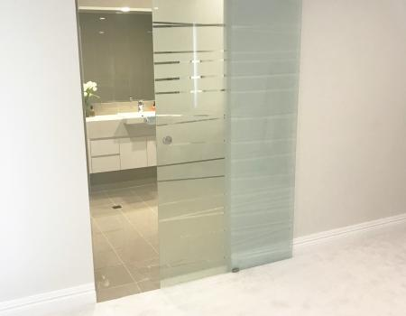 Etched Glass Sliding Doors Gold Coast 1