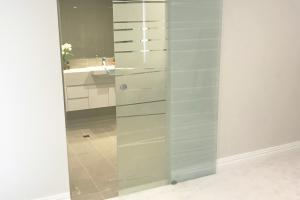 Etched Glass Sliding Doors Gold Coast gallery image 1